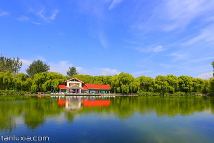 济南植物园景点:夏香湖