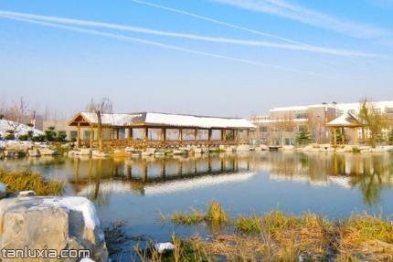 山東旅遊職業學院景點:人工湖
