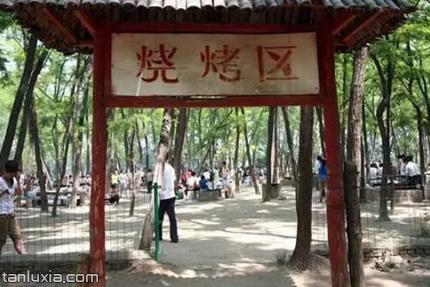 濟南黃河森林公園景點:燒烤