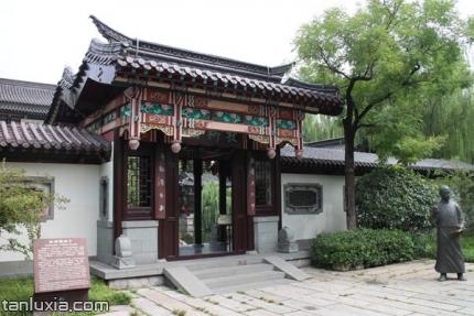 秋柳诗社景点:秋柳诗社大门入口