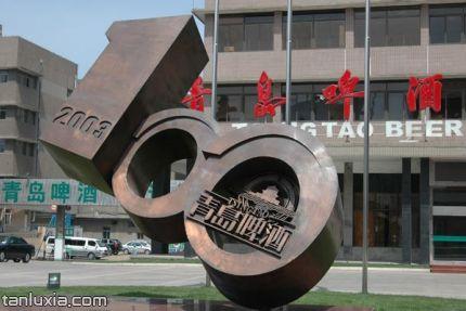 青岛啤酒博物馆景点:百年青岛啤酒雕塑