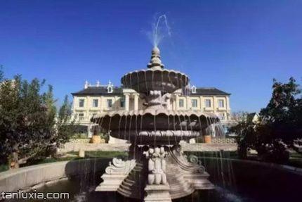 平度文王山风景区景点:喷泉