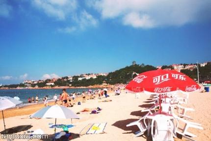 青岛第二海水浴场景点:沙滩浴场