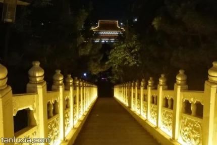 青岛圆龙公园景点:公园夜景
