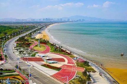 青島海軍公園景點:航拍海軍公園