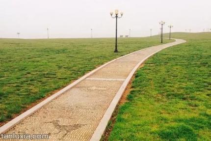 唐岛海滨海公园景点:步行道