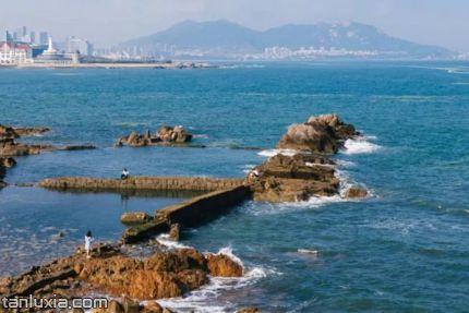 青島小麥島公園景點:海邊