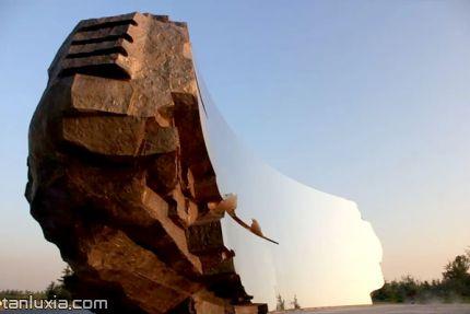 青島瀾灣藝術公園景點:無形之境雕塑