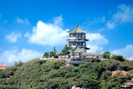 青島小魚山景點:碧波亭