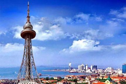 青島電視觀光塔景點:青島之窗電視塔外景