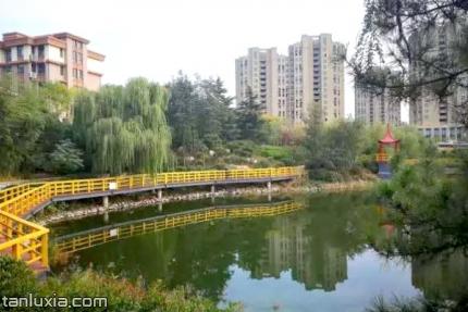 青岛石沟公园景点:亲水木栈道