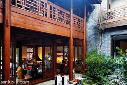 青島熊希齡故居景點:故居內院